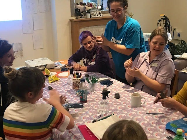 Sculpting new skills… Care home staff use their artistic license