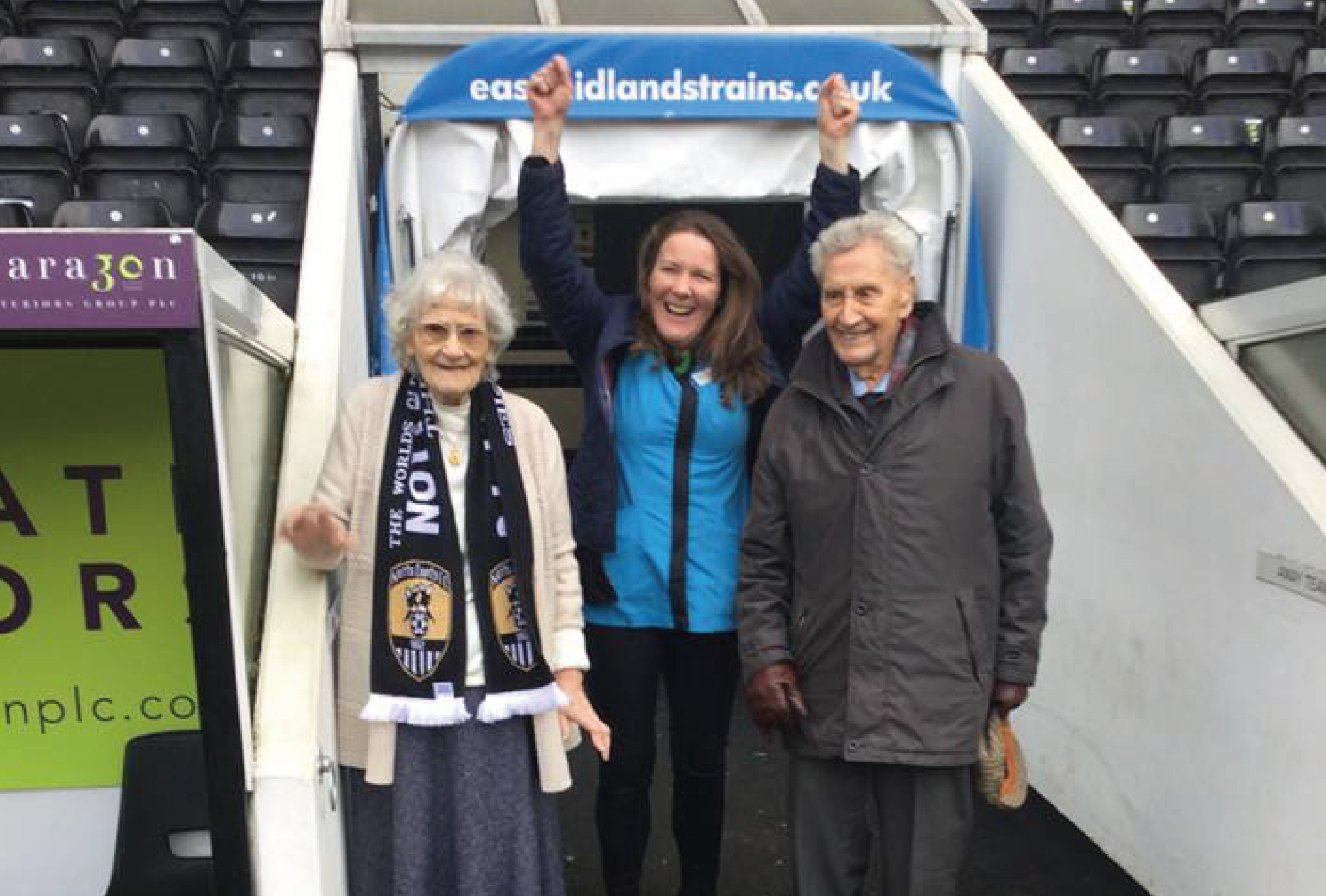Goal! Resident wish kicked off with trip to Notts County Football Club