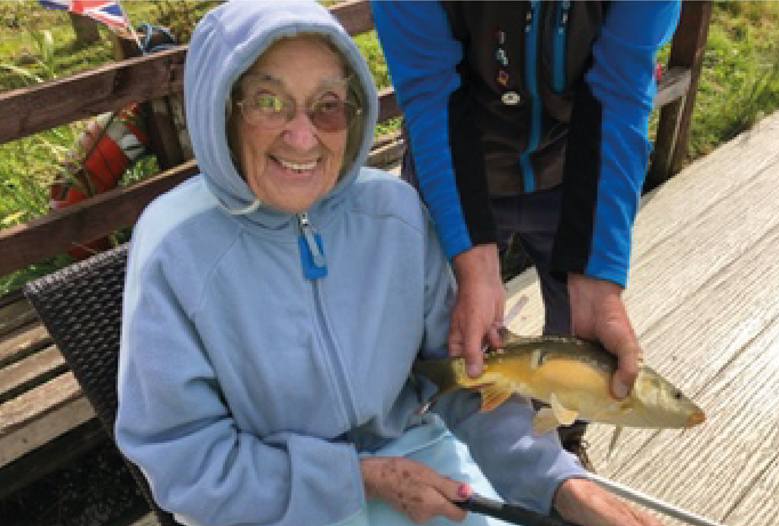 Reeling them in! Care home residents enjoy fishing trip