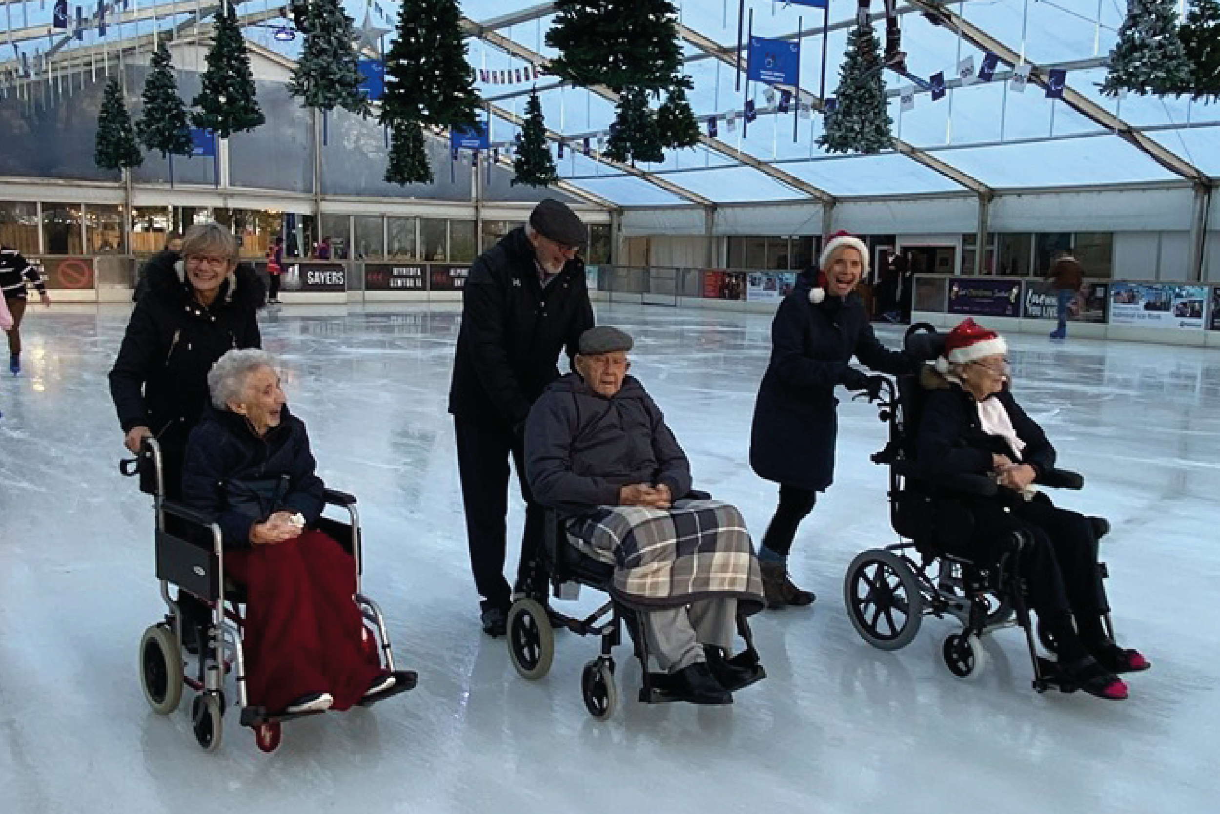 Care home residents celebrate festive season with trips out