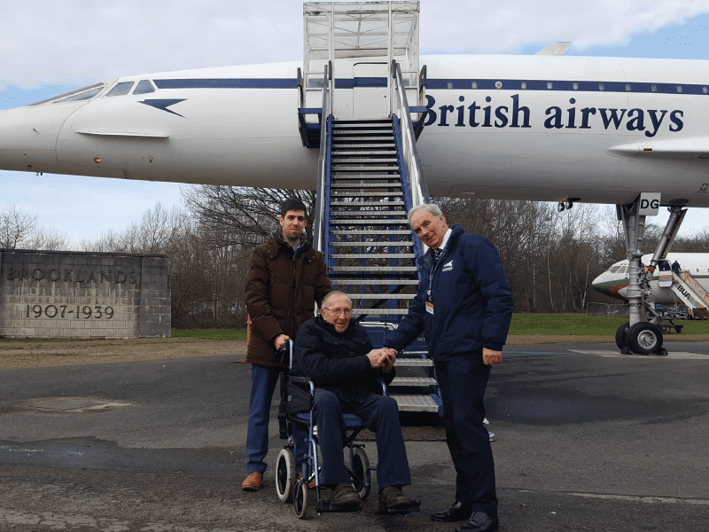 Concorde wish comes true for care home resident