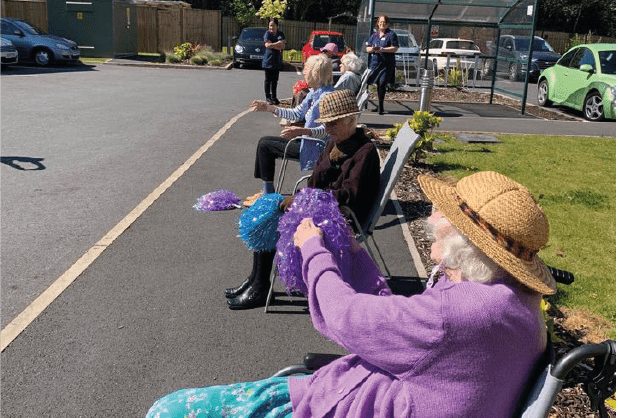 Care home brings community together with street exercise session!